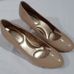 Katie & Kelly Beige patent leather heels - 8.5